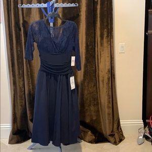 Navy blue cocktail dress NWT